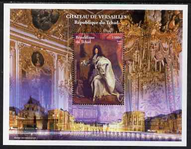 Chad 2001 Palace of Versailles #1 perf s/sheet unmounted mint featuring Louis XIV, stamps on personalities, stamps on palaces, stamps on history, stamps on napoleon
