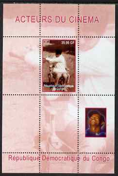 Congo 2000 Film Stars & Tiger Woods perf s/sheet #1 unmounted mint. Note this item is privately produced and is offered purely on its thematic appeal