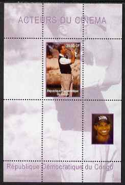 Congo 2000 Film Stars & Tiger Woods perf s/sheet #3 (Kevin Costner) unmounted mint