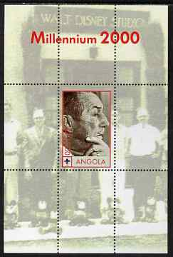 Angola 2000 Millennium 2000 - Walt Disney perf s/sheet (background shows Characters outside Disney Studio) unmounted mint. Note this item is privately produced and is offered purely on its thematic appeal