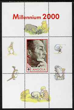 Angola 2000 Millennium 2000 - Walt Disney perf s/sheet (background shows characters from Winnie the Pooh) unmounted mint. Note this item is privately produced and is offe...