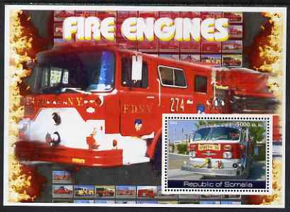 Somalia 2002 Fire Engines #2 perf s/sheet unmounted mint