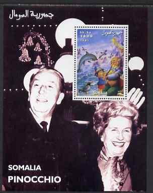 Somalia 2001 Pinocchio & Walt Disney #7 perf s/sheet unmounted mint