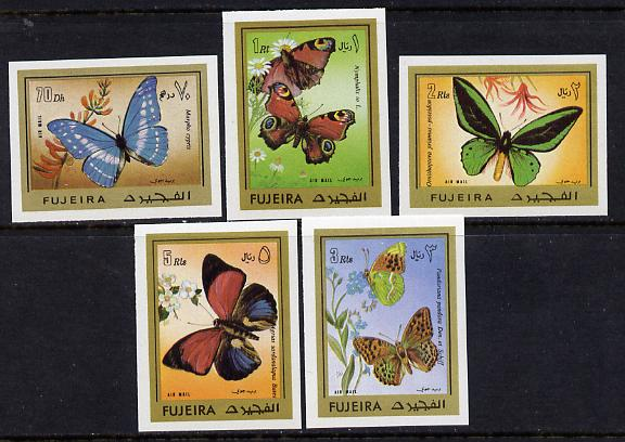Fujeira 1971 Butterflies imperf set of 5 unmounted mint (Mi 780-784B)