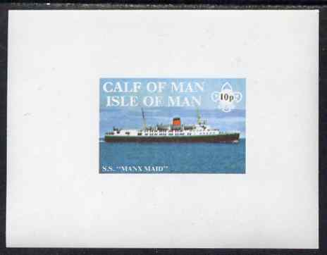 Calf of Man 1971 Ships - SS Manx Maid imperf m/sheet unmounted mint (Rosen CA200MS)