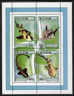 North Korea 2000 Fauna - Whales perf sheetlet containing 4 values unmounted mint SG N4000-03