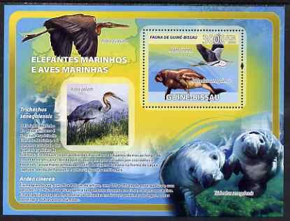 Guinea - Bissau 2008 Sea Cows & Sea Birds perf souvenir sheet unmounted mint