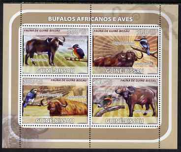 Guinea - Bissau 2008 Buffalo & Birds perf sheetlet containing 4 values unmounted mint