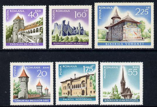 Rumania 1967 Int Tourist Year set of 6 (Historic Monuments) unmounted mint, SG 3474-79, Mi 2600-05