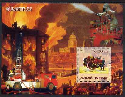 Guinea - Bissau 2005 Fire Engines perf souvenir sheet unmounted mint Yv BF 228