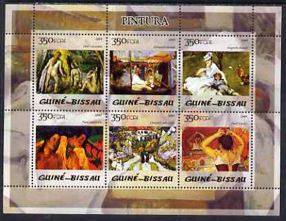 Guinea - Bissau 2005 Impressionist Painters perf sheetlet containing 6 values unmounted mint Mi 2832-37