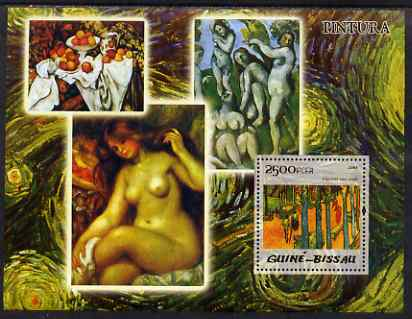 Guinea - Bissau 2005 Impressionist Painters perf souvenir sheet unmounted mint Mi Bl 473, stamps on arts, stamps on impressionists, stamps on van gogh, stamps on nudes, stamps on fruit, stamps on food