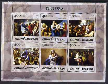 Guinea - Bissau 2005 Paintings in Prado Museum perf sheetlet containing 6 values unmounted mint Mi 2838-43