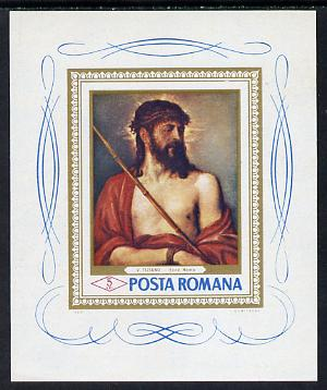 Rumania 1968 Paintings in Rumanian Galleries m/sheet (Titian) unmounted mint, Mi BL 65