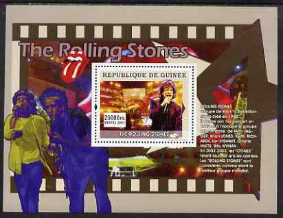 Guinea - Conakry 2007 Male Music Stars (Rolling Stones) perf souvenir sheet unmounted mint
