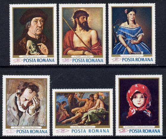 Rumania 1968 Paintings in Rumanian Galleries set of 6 unmounted mint, SG 3543-48, Mi 2666-71