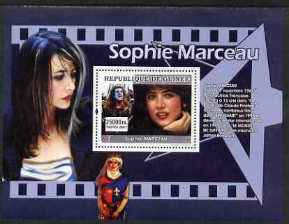 Guinea - Conakry 2007 French Film Stars (Sophie Marceau) perf souvenir sheet unmounted mint