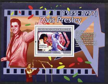 Guinea - Conakry 2007 Elvis Presley (begins his career with Sun Records) perf souvenir sheet unmounted mint