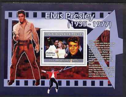 Guinea - Conakry 2007 Elvis Presley (an idol to the young) perf souvenir sheet unmounted mint