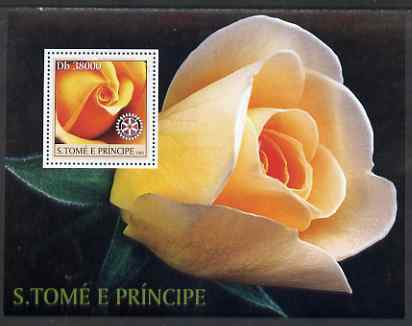 St Thomas & Prince Islands 2003 Roses (with Rotary symbol) perf souvenir sheet unmounted mint Mi Bl 1432