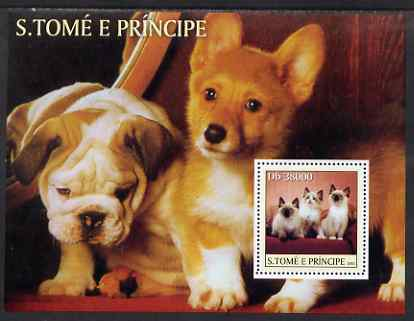 St Thomas & Prince Islands 2003 Cats & Dogs (Jack Russell etc) perf sheetlet containing 6 values unmounted mint Mi 2124-29