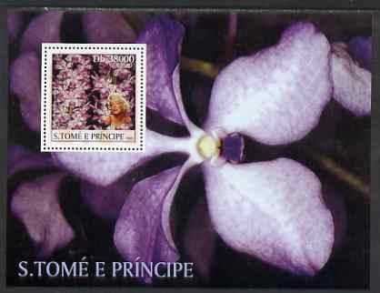 St Thomas & Prince Islands 2003 Orchids (with Marilyn Monroe) perf souvenir sheet unmounted mint Mi Bl 1434