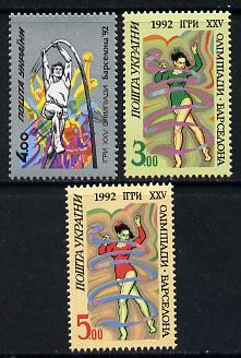 Ukraine 1992 Barcelona Olympic Games set of 3 (Pole Vault & Gymnastics) SG 54-56 unmounted mint