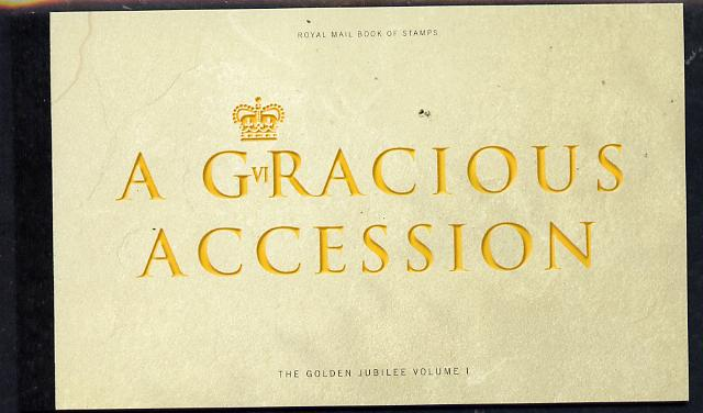 Booklet - Great Britain 2002 A Gracious Accession \A37.29 Prestige booklet complete & very fine SG DX28