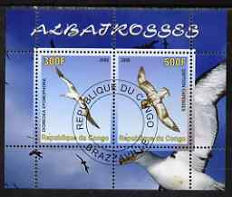 Congo 2008 Birds - Albatros perf sheetlet containing 2 values cto used
