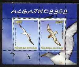Congo 2008 Birds - Albatros perf sheetlet containing 2 values unmounted mint