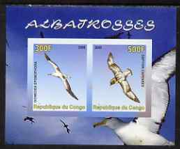 Congo 2008 Birds - Albatros imperf sheetlet containing 2 values unmounted mint