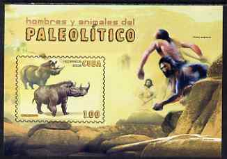 Cuba 2008 Pre-historic Man & Animals imperf s/sheet unmounted mint