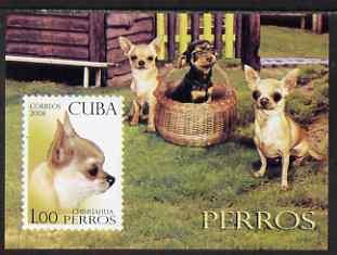 Cuba 2008 Dogs imperf s/sheet unmounted mint