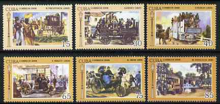 Cuba 2008 Vintage Cars perf set of 6 unmounted mint