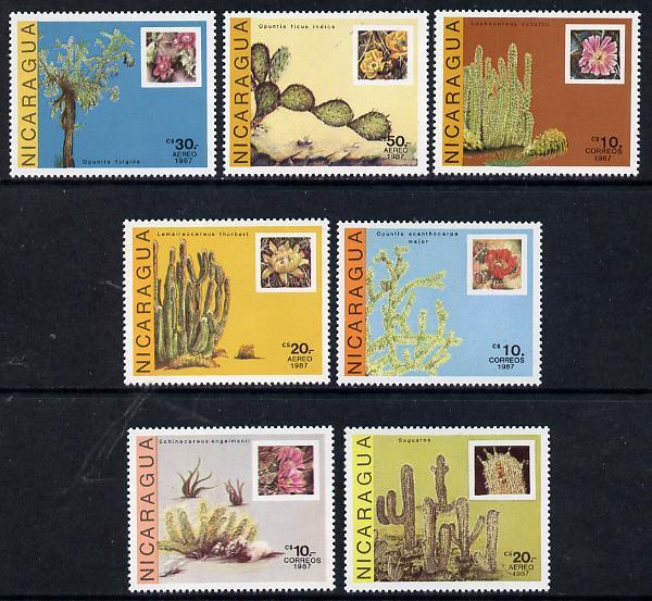 Nicaragua 1987 Cactii set of 7 unmounted mint, SG 2888-94