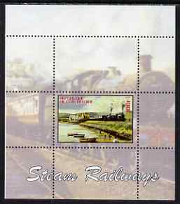 Ivory Coast 2004 Steam Railways #2 perf s/sheet unmounted mint. Note this item is privately produced and is offered purely on its thematic appeal