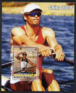 Ivory Coast 2006 Beijing Olympics - Rowing Olaf Tufte #1 perf s/sheet unmounted mint