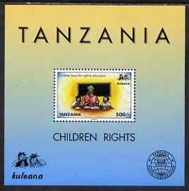Tanzania 1998 Children's Rights perf m/sheet unmounted mint SG MS 2140