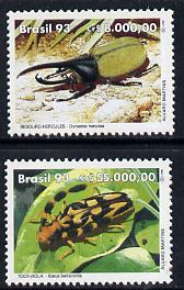 Brazil 1993 Environment Day (Beetles) set of 2 unmounted mint, SG 2576-77*