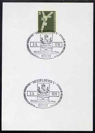 Postmark - West Germany 1976 postcard bearing 5pfg stamp with special cancellation for Tank Association Stamp Club
