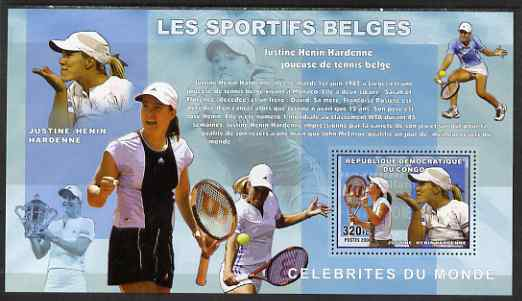 Congo 2006 Belgian Sports Personalities perf s/sheet containing 1 value (Justine-Henin Hardenne) unmounted mint