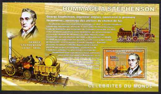 Congo 2006 George Stephenson perf s/sheet, unmounted mint