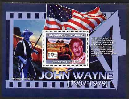 Guinea - Conakry 2007 John Wayne perf souvenir sheet (He was born in Iowa) unmounted mint Yv 639