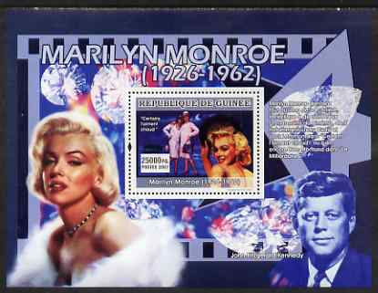 Guinea - Conakry 2007 Marilyn Monroe perf souvenir sheet (Some Like it Hot) unmounted mint Yv 644