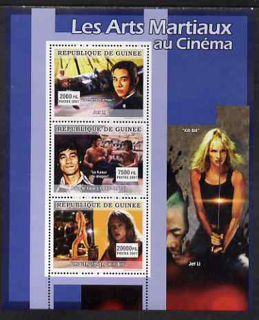 Guinea - Conakry 2007 Martial Arts Movies perf sheetlet containing 3 values unmounted mint, Yv 3041-43