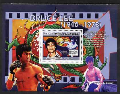 Guinea - Conakry 2007 Martial Arts Movies perf souvenir sheet (Bruce Lee) unmounted mint Yv 646