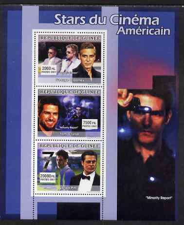 Guinea - Conakry 2007 American Male Film Stars perf sheetlet containing 3 values unmounted mint, YV 3044-46