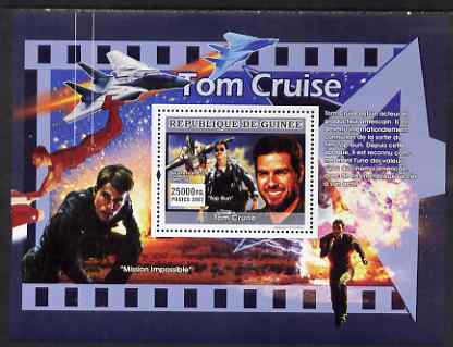 Guinea - Conakry 2007 American Male Film Stars perf souvenir sheet (Tom Cruise) unmounted mint Yv 649
