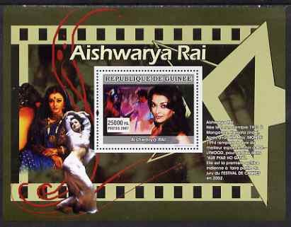 Guinea - Conakry 2007 Indian Film Stars perf souvenir sheet (Aishwarya Rai) unmounted mint