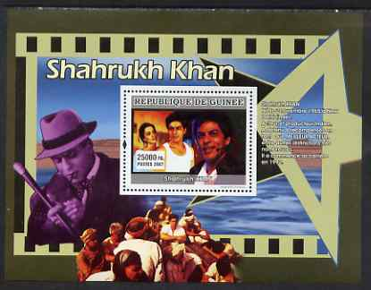 Guinea - Conakry 2007 Indian Film Stars perf souvenir sheet (Shahrukh Khan) unmounted mint